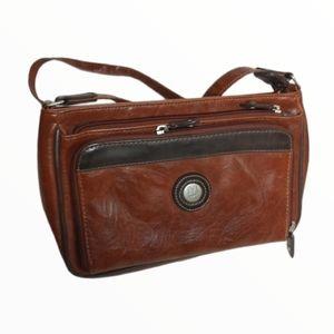 Vintage Mouflon Canada faux leather Crossbody bag